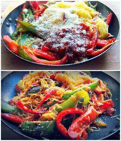 Pepper & Spaghetti Squash Parmesan