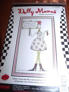 """Janlynn Dolly Mamas TINKLE IN YOUR PANTIES Counted Cross Stitch Kit 6"""" x 10""""  #Janlynn"""