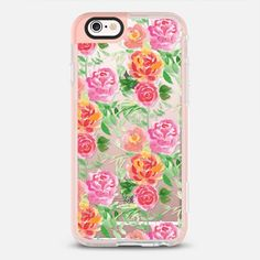 Floral Bouquet Pattern - protective iPhone 6 phone case in Clear and Clear by Lauren Victoria Reeves | Floral never go out of style! >>>  https://www.casetify.com/product/floral-bouquet-pattern-v3b/iphone6s/new-standard-pastel-case#/207600 | @casetify