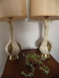 Mid Century Lamps by MarzMum on Etsy, $250.00