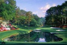 Morning at the 16th by Larry Dyke - Dyke is one of the most successful and acclaimed artists of his generation. He paints powerful landscapes inspired by his deep, personal belief in Christ and his frequent travels to domestic, international, and exotic locales.