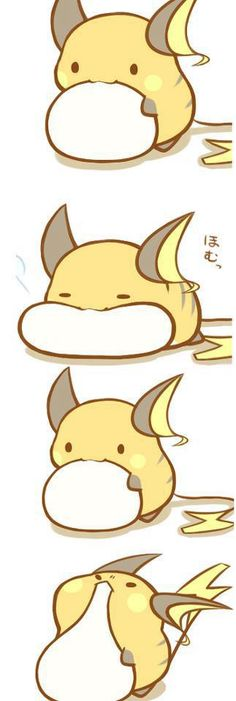 Raichu - this board is full of Pokemon pictures.... I'll stop pinning them them when they stop being adorable.