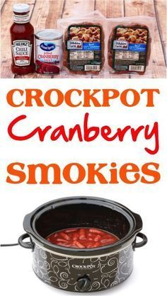 Crock Pot Cranberry Little Smokies Recipe! Just 3 ingredients and you've got the perfect easy appetizer for holidays and parties!   NeverEndingJourneys.com
