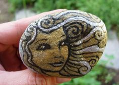 Wind Blown Painted Stone