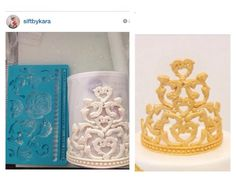 Crown Tutorial using Wilton Mold ~ Filigree & Roses                                                                                                                                                     More