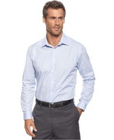 Alfani Big and Tall Shirt, Long Sleeve Hinkley Stretch Shirt - Mens Shirts - Macys