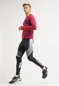 Nike Performance Tights - black/white/reflective silver für 124,95 € (27.02.16)…