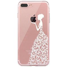 bdc9c54ada3316 iPhone 7 plus Case, JAHOLAN Amusing Whimsical Design Clear TPU Soft Case  Rubber Silicone Skin Cover for iPhone 7 plus or iPhone 7 pro - Henna Series  White ...