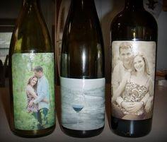 Bottle Decorations wedding. Photo decoupage                                                                                                                                                                      More