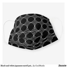 Black and white japanese motif pattern cloth face mask How To Protect Yourself, Shape Of You, White Patterns, Clothing Patterns, Snug Fit, Sensitive Skin, Face Masks, First Love, Japanese