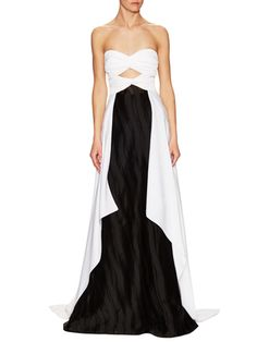 Vionnet Strapless Two Tone Double Georgette Gown