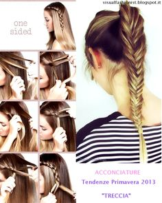 hairstyle - acconciature - Primavera http://visualfashionist.blogspot.it/2013/03/acconciature-semplici-per-la-primavera.html