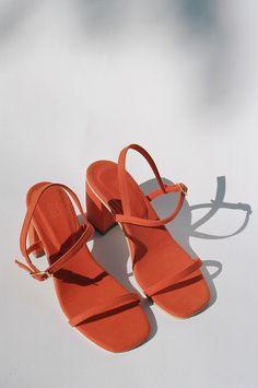 Exclusive RAFA - Simple Sandal - Blood Orange