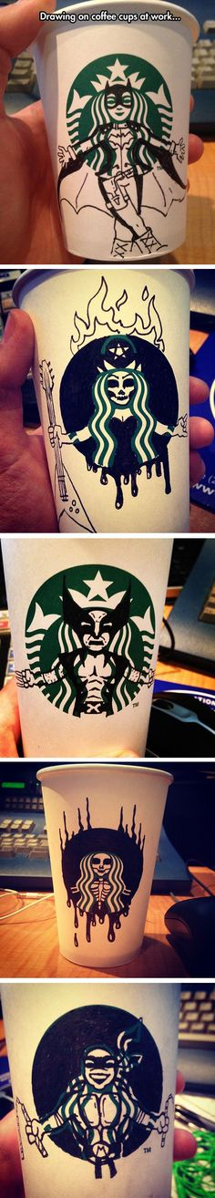 Starbucks Should Pay Him For These Designs (Funny Geek Stuff)