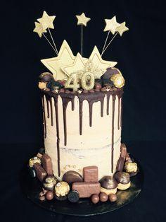 Mocha chocolate drip cake for 40th birthday