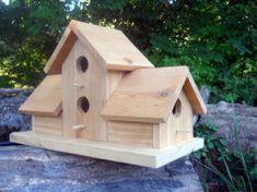 Diy bird house & bird feeder plans that will make your garden perfect 36 Bird Feeder Plans, Bird House Feeder, Bird Feeders, Bird House Plans, Bird House Kits, Birdhouse Designs, Bird Aviary, Bird Houses Diy, Wood Bird
