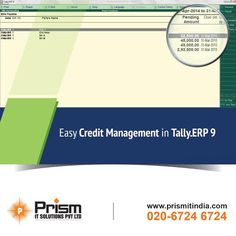 Limit risks & minimize bad debt with easy #creditmanagement in Tally.ERP 9. For more details please visit @ http://www.prismitindia.com/