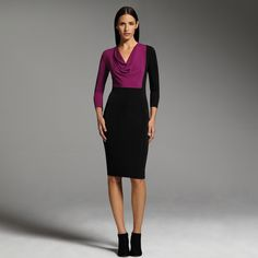 Narciso Rodriguez for DesigNation colorblock sheath dress #Kohls - So sassy this season and long sleves!