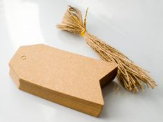 Arrow Kraft Paper Tags with Jute String by Catherine Trudel Design Studio Kraft Paper, Paper Tags, Jar Labels, Cotton Bag, Custom Stickers, Jute, Diy Wedding, Card Stock, Craft Supplies