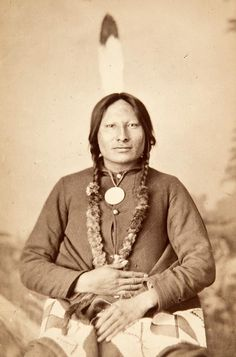 Chief Rain-in-the-Face. Hunkpapa Lakota. circa 1880