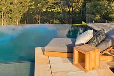 www.integratedpools.com.au ph: (03) 8532 4432 Custom designed pool with pool house #luxurypool  #ingroundpool #canny