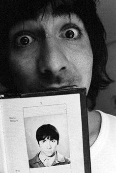 The Who's drummer Keith Moon holding an older photograph of himself on a UK passport. Get premium, high resolution news photos at Getty Images Keith Moon, The Who Drummer, John Entwistle, Pictures Of Lily, Pete Townshend, Roger Daltrey, British Invasion, Press Photo, Concert Posters