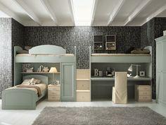 Loft bedroom set for boys/girls NUOVO MONDO N16 by Scandola Mobili