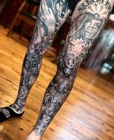 16 amazing tattoos that are living works of art -.- 16 amazing tattoos that are living works of art – 16 amazing tattoos that are living works of art – Ftw Gallery – - Thigh Tattoo Men, Full Leg Tattoos, Knee Tattoo, Calf Tattoo, Full Sleeve Tattoos, Tattoo Sleeve Designs, Tattoo Designs Men, Mens Leg Tattoo, Skull Tattoos
