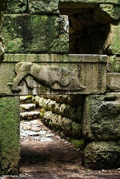 One of the gates of the antique city Butrint, you will have to go through there.