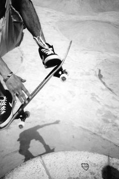 Skateboarding Black and White Photography