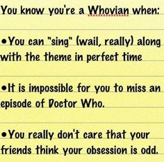 You know you're a Whovian if ...