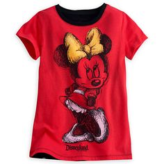 Christmas 2015 gift for our granddaughter. Minnie Mouse Gold Foil Tee for Girls - Disneyland