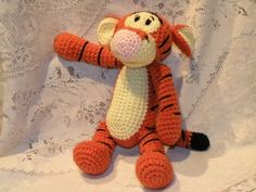 PDF - Tigger - the Winnie the Poohs friend - 11.2 inches / 28 cm amigurumi crochet pattern - Available in English or Spanish language. $5.50, via Etsy.
