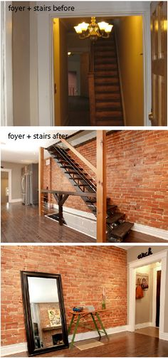 Love exposed brick.  Before & After: Ola's House