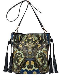 Etro Printed Nappa Leather Bag on shopstyle.co.uk