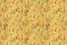 Actual fabric swatch is much ligher - more like a buttery yellow. Lots of hints of different colors.