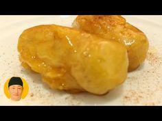 Banana caramelada igual do restaurante - YouTube Japanese Food, The Creator, Meat, Chicken, Ethnic Recipes, 36, Youtube, Foods, Appetizer Recipes