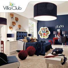 Habitacion niño en tonos azules