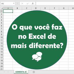 Conta aí: O que você faz de mais diferente? Sou suspeita até pelo nome do meu canal: Tudo com Excel Gosto de montar imagens e e-books no Excel  🔗 linktr.ee/tudocomexcel #excel #planilha #tudocomexcel #MSEXCEL #office