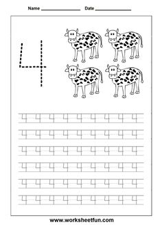 Number Tracing worksheet - 4