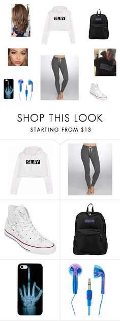 """Anthony Trujillo Inspired"" by ilovemusic1996 on Polyvore featuring Honeydew Intimates, Converse and JanSport"