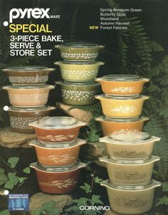 Bake, serve and store ~ still have a couple of these I got as wedding gifts 35 years ago