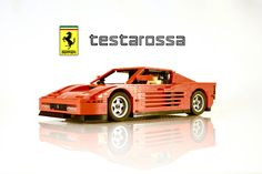 Fiery red LEGO Ferrari Testarossa straight out of 1984