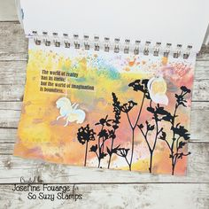 How to use Distress Oxide and So Suzy Stamps in your Art Journal