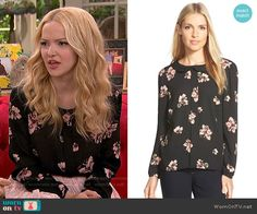 Cece by Cynthia Steffe 'Floral Daydream' Long Sleeve Blouse worn by Dove Cameron on Liv & Maddie Fashion Tv, School Fashion, Fashion 2017, Fashion Outfits, Teenager Outfits, Girly Outfits, Cute Outfits, Liv Rooney, Dove Cameron Style