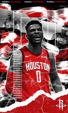 NBA - Houston Rockets - Sport - Basketball - Fantart - Wallpaper - Poster Basketball Posters, Love And Basketball, Sports Basketball, Basketball Videos, Russell Westbrook Wallpaper, Westbrook Wallpapers, Nba Houston Rockets, Nba Pictures, Nba Los Angeles