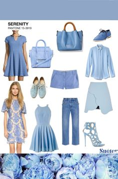 look outfit Pantone 2016 Serenity - Blue