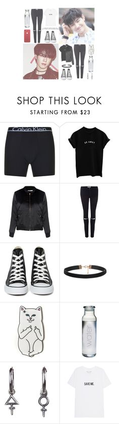 """""""& — """" Your body temperature that I could feel with my fingers. Your small hand that was always warm. I'm holding onto the faded memories with a burning heart, looking for you girl. """" — &"""" by heathxns ❤ liked on Polyvore featuring beauty, Calvin Klein, Glamorous, Frame, Converse, RIPNDIP and Rachel Entwistle"""