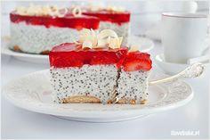 Mini serniczki w szklankach - I Love Bake Dessert Recipes, Desserts, Vanilla Cake, Tart, Panna Cotta, Cheesecake, Food And Drink, Yummy Food, Sweets