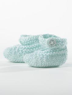 Yarnspirations.com - Bernat Baby Booties - Free Pattern | Knit | Charity | Easy  | Yarnspirations